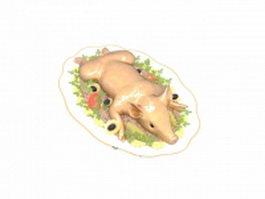 German cuisine Spanferkel 3d preview