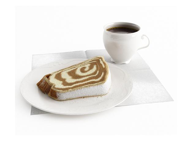 Breakfast toast with coffee 3d rendering