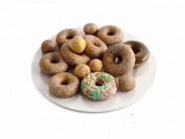 Crispy doughnuts 3d model preview