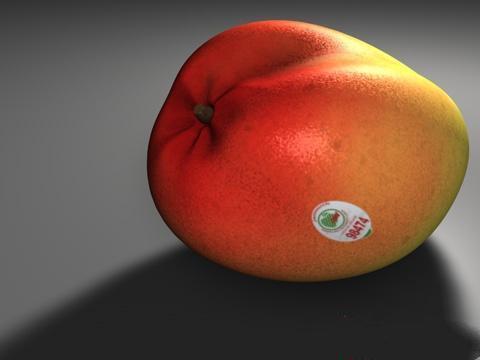 Sticker mango 3d rendering
