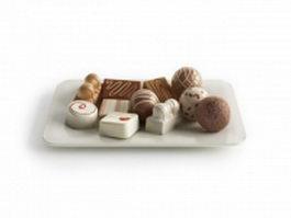 Chocolate dessert 3d model preview