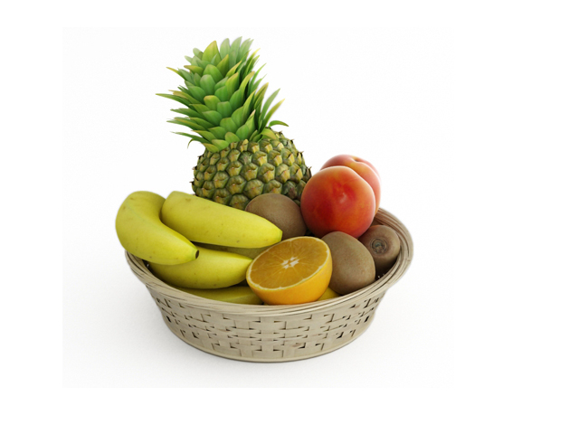 Fruit collection 3d rendering