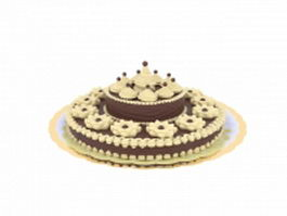 Chocolate cake 3d model preview