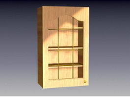 Wood cupboard design 3d preview