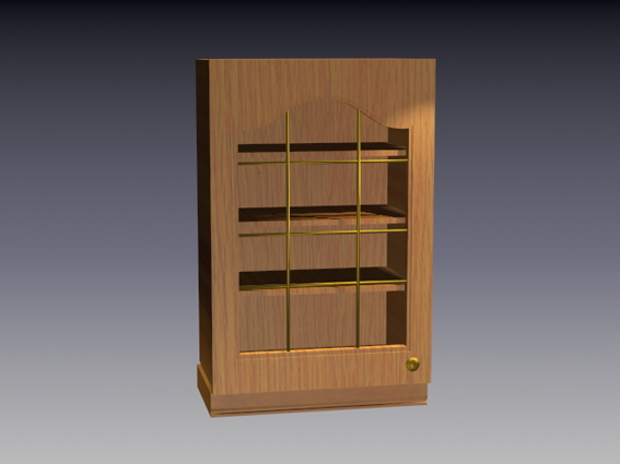 Wall-mounted cupboard 3d rendering
