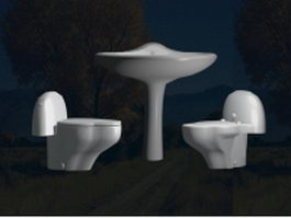Sanitary fittings collection 3d preview