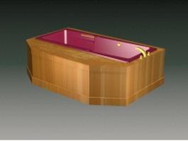 Built in bathtub 3d model preview