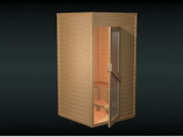 Small dry sauna room 3d preview