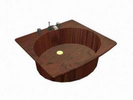 Belfast sink with tap 3d preview