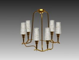 Chandelier and pendant light 3d preview