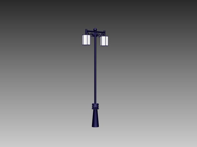 Double head street lamp 3d rendering