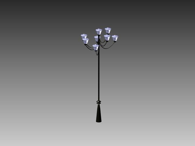 Decorative street lamppost 3d rendering