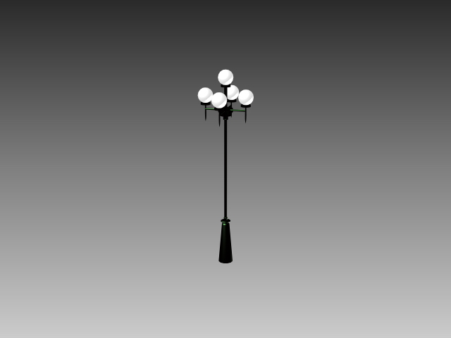 Modern street lamp 3d rendering