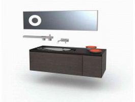Big bath vanity 3d model preview