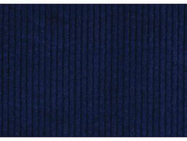 Close up of blue corduroy fabric texture