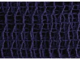 Midnight blue warp knitting background closeup texture