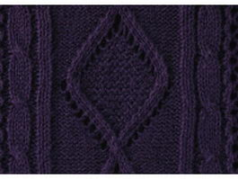 Indigo cable knitting pattern background texture