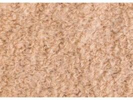 Yellow plush wool carpet texture