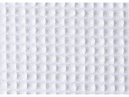Close-up of white seersucker gingham texture