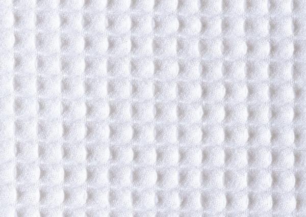 Close-up of white seersucker gingham texture