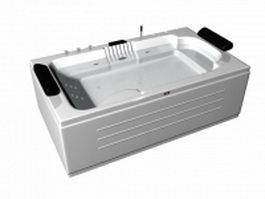 Modern whirlpool tub 3d model preview
