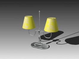 Classic table lamp 3d model preview