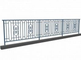 Blue railing construction 3d preview