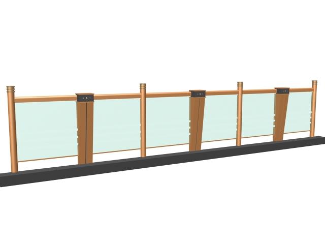 Glass railing 3d model free download