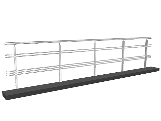 Stainless steel railing 3d model 3dsMax,3ds files free ...