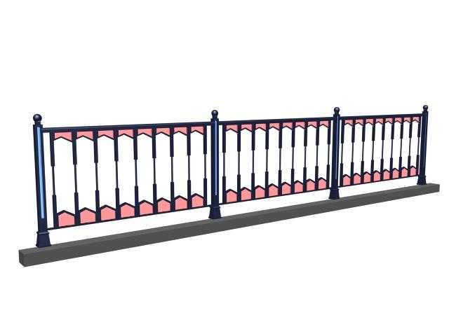 Street decorative railing 3d model 3dsMax,3ds files free ...