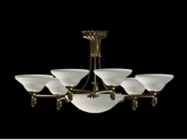 Country chandeliers lighting 3d model preview