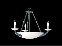Pendant bowl chandelier 3d preview