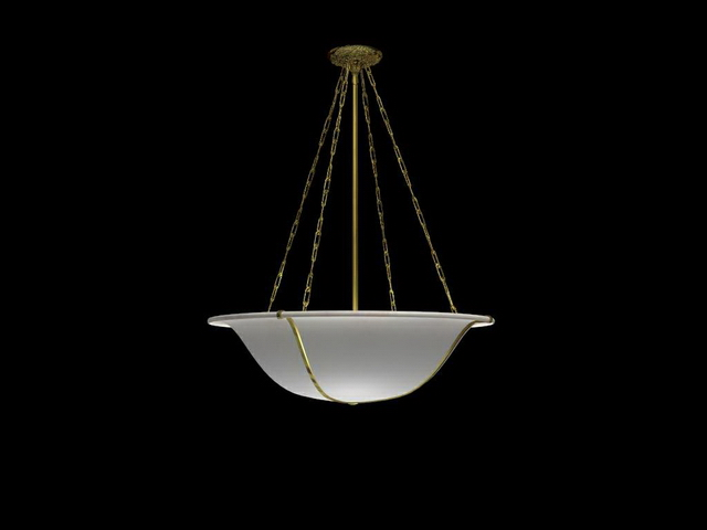 Bowl hanging light fixture 3d rendering