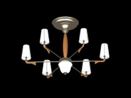 Bronze pendant chandelier 3d preview