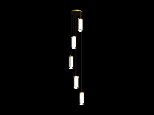 Crystal LED column light 3d rendering