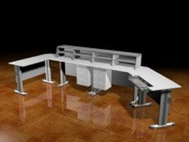 Studio workstation desk 3d model preview