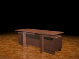 Modern executive desk 3d preview