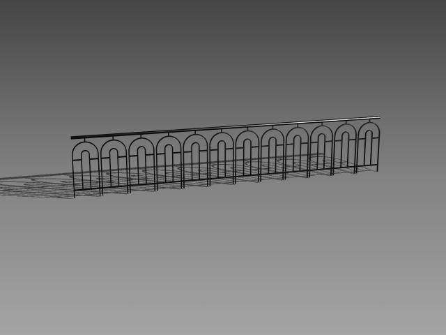 Exterior iron railing designs 3d model 3dsMax,3ds,AutoCAD ...