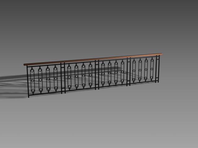 Interior railing design 3d model 3dsMax,3ds,AutoCAD files ...