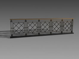 Handrail design for staircase 3d model preview