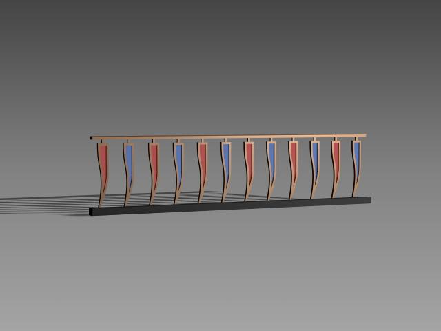 Railing design for house 3d model 3dsMax,3ds,AutoCAD files ...