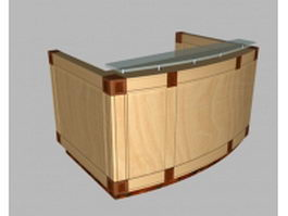 Small office reception desk 3d preview