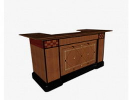 Traditional reception desk 3d preview