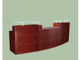 Classic reception counter 3d model preview