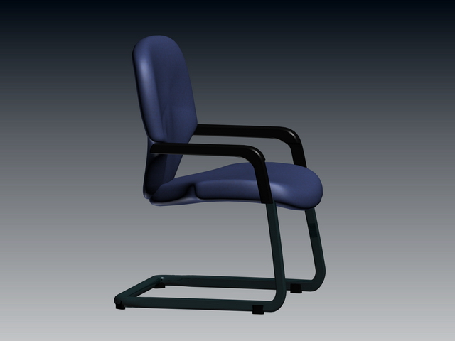 Office cantilever chair 3d rendering