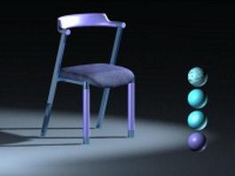 Modern work chair 3d model preview