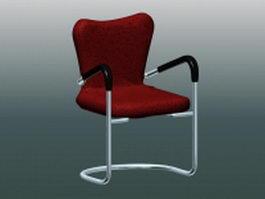 Vintage cantilever chair 3d model preview