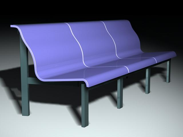 Modern office waiting chair 3d rendering
