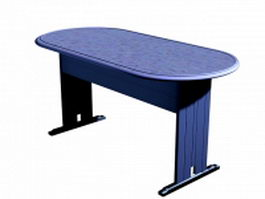 Simple office table 3d preview