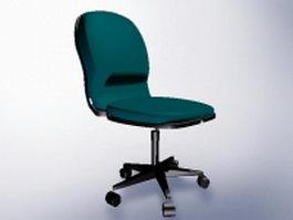 Ergonomic office chair 3d model preview